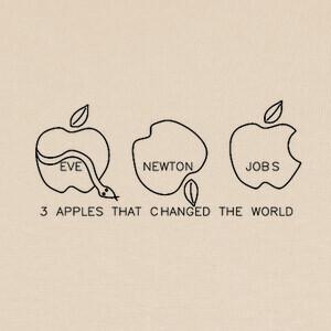 Tee-shirts poma manzana apple apfel pomme