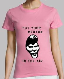 poner su barbilla en el aire!