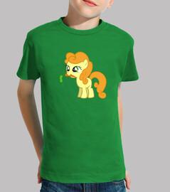 Pony naranja niño