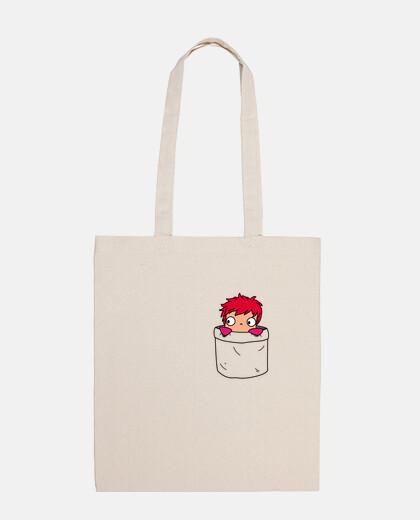 ponyo in a pocket bag