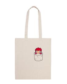 ponyo in una pocket bag