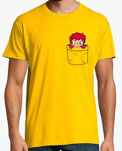 T-shirt ponyo in una pocket uomo