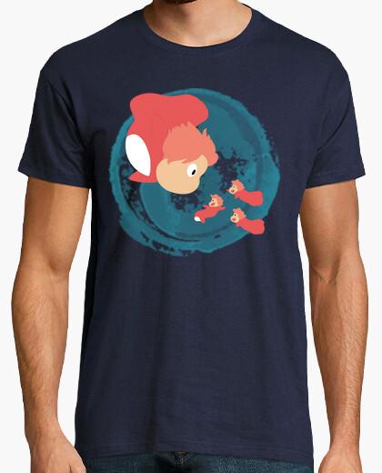 Camiseta Ponyo y sus hermanas