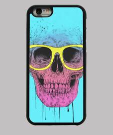 pop art skull con scatola occhiali