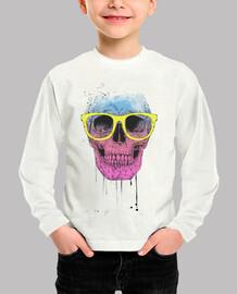 Pop art skull with glasses