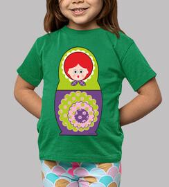 poupée vert et violet