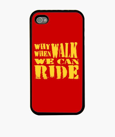 Coque iPhone pourquoi pied (jaune)