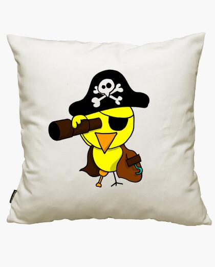 Housse de coussin poussin pirate