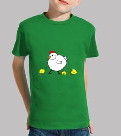 poussins de  T-shirt  enfants