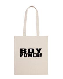 pouvoir de garçon! sac noir