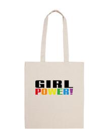 pouvoir des filles! sac arc en ciel