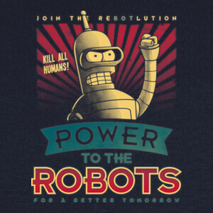 Camisetas Power to the Robots