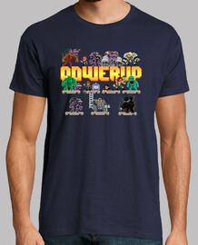 powerup the board game boy shirt