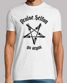 Praise Seitan - Go vegan 1.1 (negro)