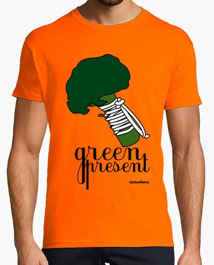Tee-shirt présente verte