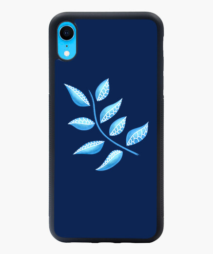 Pretty Blue Plant Botanical Abstract...