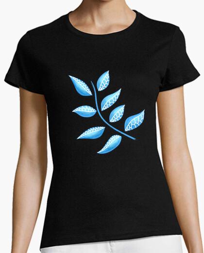 Pretty Blue Plant Botanical Abstract t-shirt