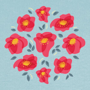 Pretty Flowers With Bright Pink Petals T-shirts