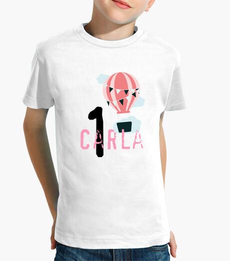 Ropa infantil Primer cumpleaños, globo aerostático rosa