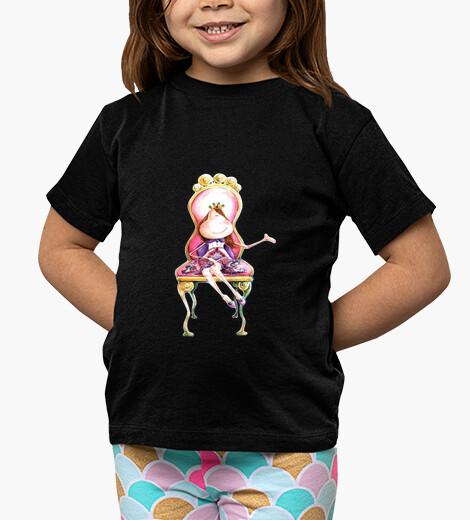 Ropa infantil Princesa Camiseta negra niñas