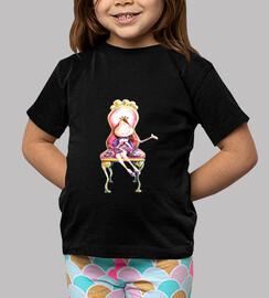 Princesa Camiseta negra niñas