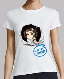 Princesa Leia - Mujer, manga corta, blanca, calidad premium
