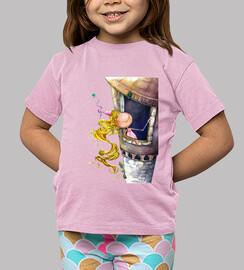 Princesa Rapunzel Camiseta ROSA niñas