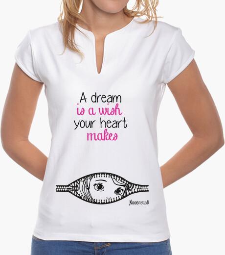 Camiseta princesa sueño es un deseo - collar de