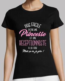 princesa y recepcionista
