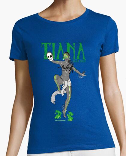 Tee-shirt princesse de la pâte - tiana marais reine