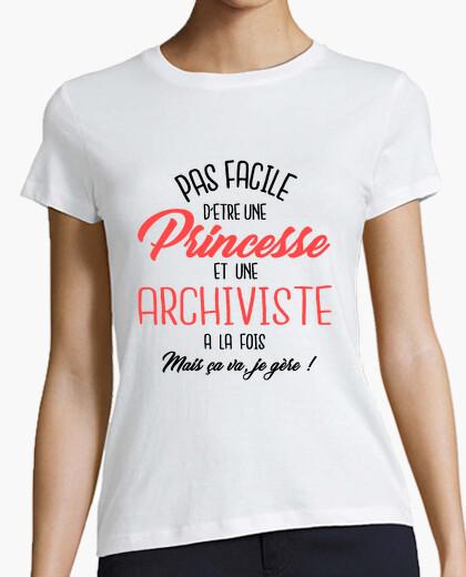 Tee-shirt Princesse et archiviste