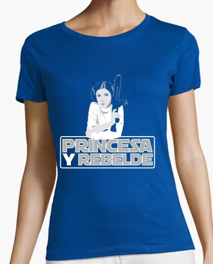 Tee-shirt princesse et rebelle
