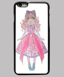 princesse japonaise. cas iphone 6 plus, noir