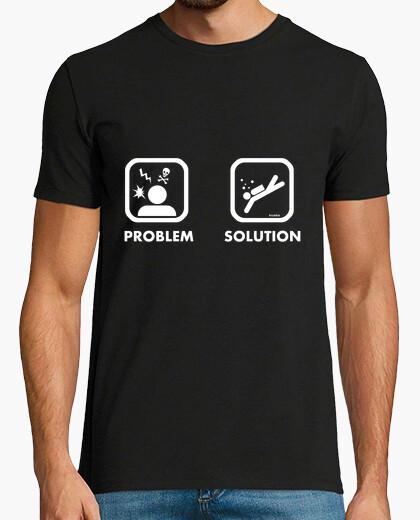 Tee-shirt problème solution homme de plongée