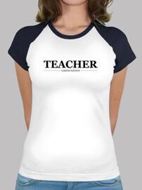 professeur, femme, logo noir
