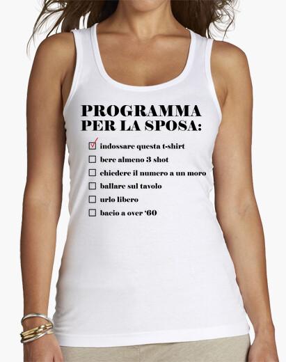 T-shirt Programma per la sposa