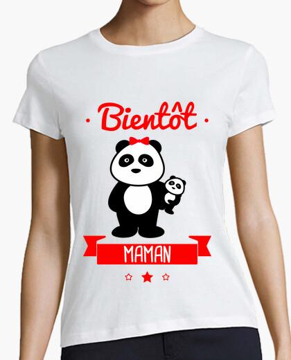 Camiseta pronto mamá
