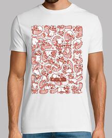 propagación panda rojo camisa para hombre