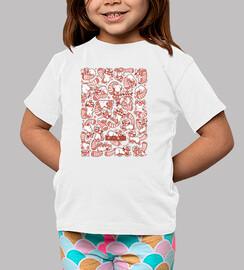 propagation chemise enfants panda rouge