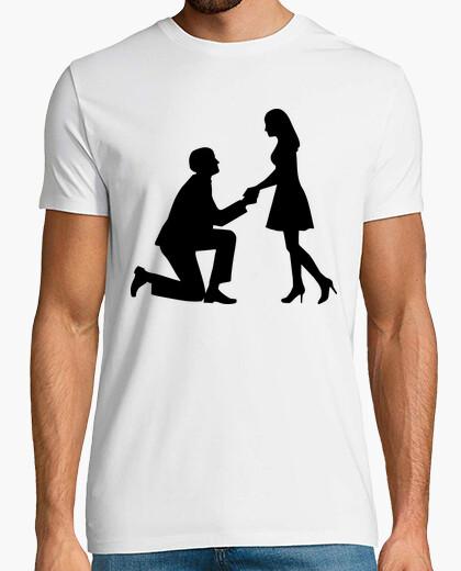 Tee-shirt proposition de mariage de mariage