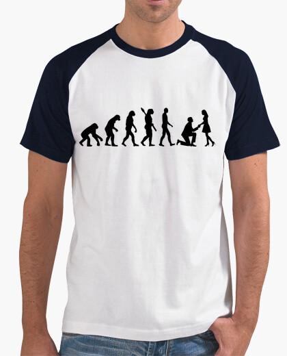 Tee-shirt proposition de mariage évolution