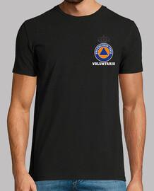 Protección Civil Voluntario fullcolor sobre negro