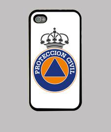 Protection civile logo générique. couronne ou