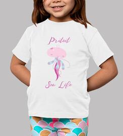 protéger la vie marine - méduse