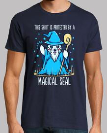 protegido por un sello mágico - camisa de hombre