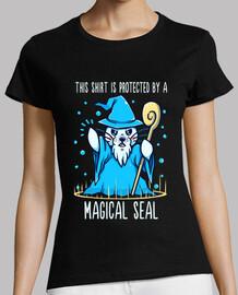 protegido por un sello mágico - camisa de mujer