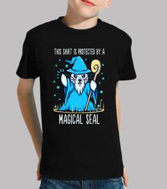 protegido por un sello mágico - camisa de niños