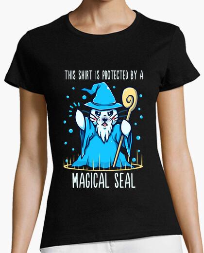 T-shirt protetto da un sigillo magico - camicia da donna
