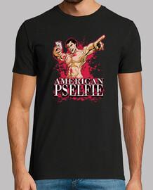 pselfie americano (camisa de color negro)
