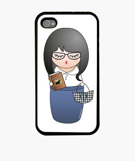Coque iPhone psychologue kokeshi